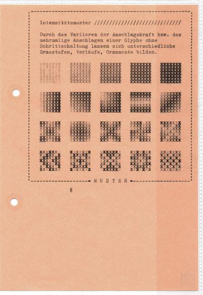 Falk Schwalbe, Muster, Maschinenkunst, Schriftkunst, Asci-Muster