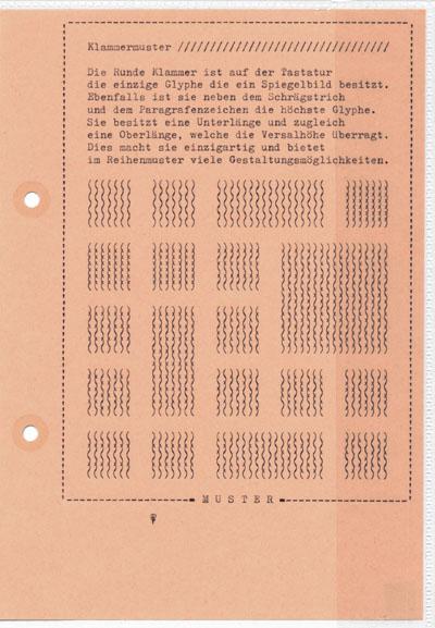 Falk Schwalbe, Typomuster, Typepattern, Glyphenmuster, Typewriterpattern