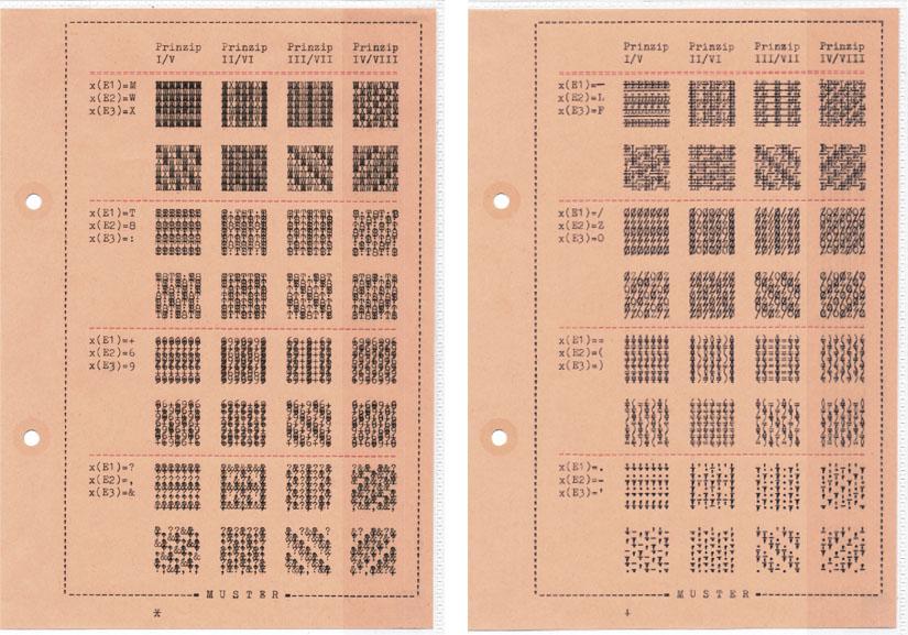 Falk Schwalbe, gemustert, Pixelpattern, Pixel-Pattern, Schreibmaschinenwerke