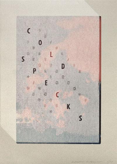 falk schwalbe, rainbow, gigposter, screen print, silkscreen