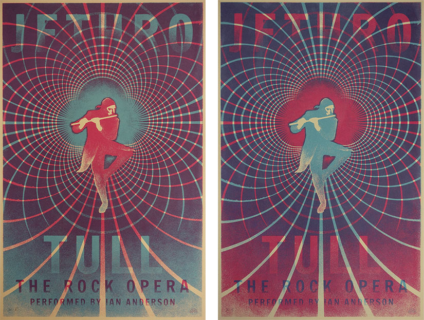 falk schwalbe rainbow gigposter screen print silk screen