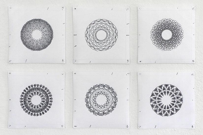 Falk Schwalbe Schreibmaschinenkunst typewriter art Wieder oder Und